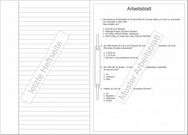 Musikverlag Streubel - Schulheft liniert mit Rand mit integriertem ...